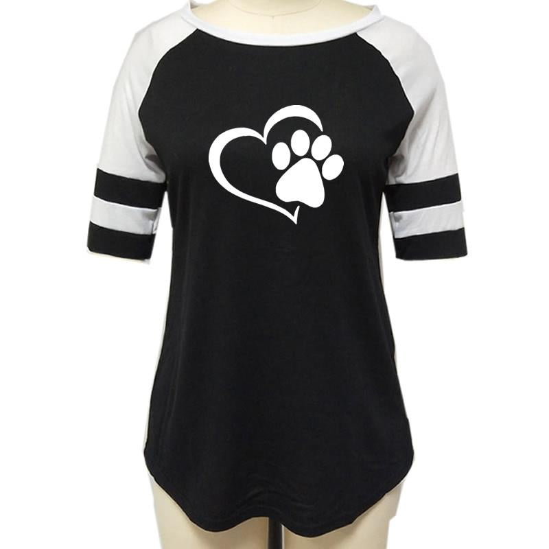 Dog Paw Print Top Shirt