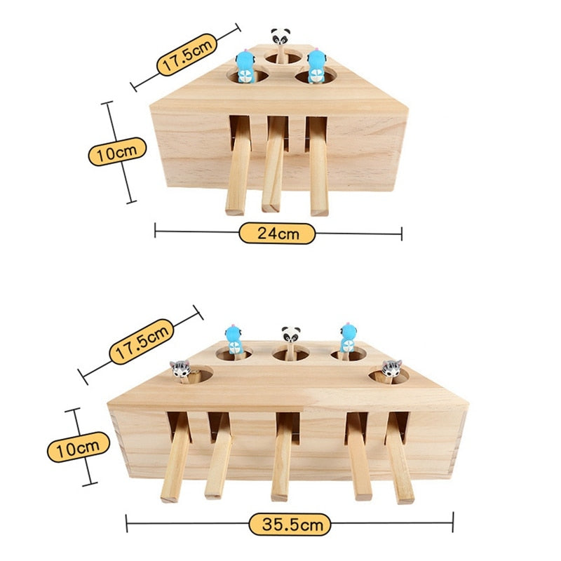 Cat Toy Solid Wood Interactive Toy