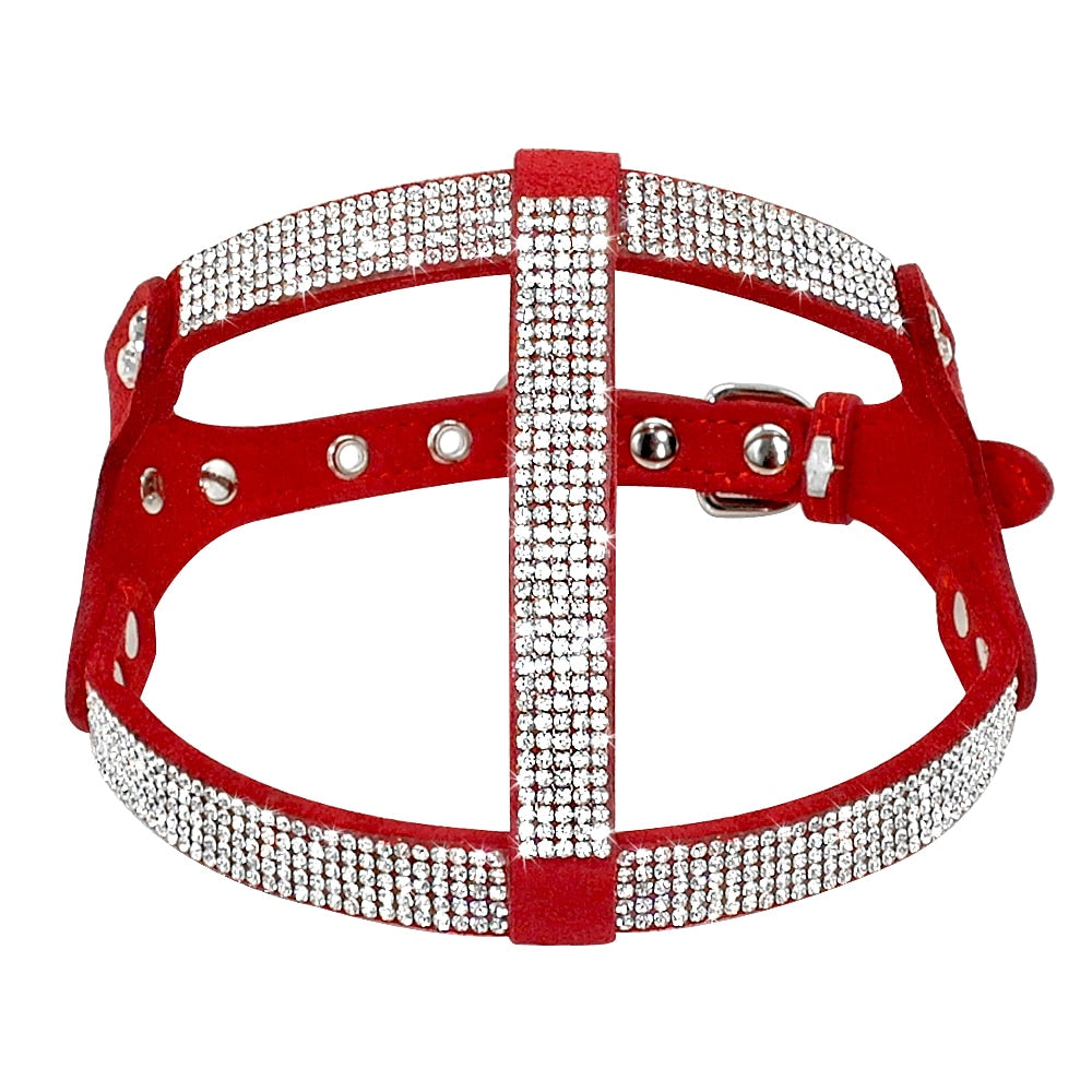 Suede bling harness