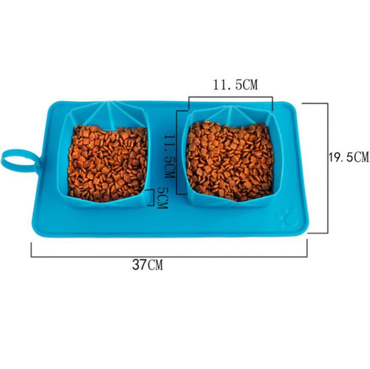 Pet silicone folding bowl