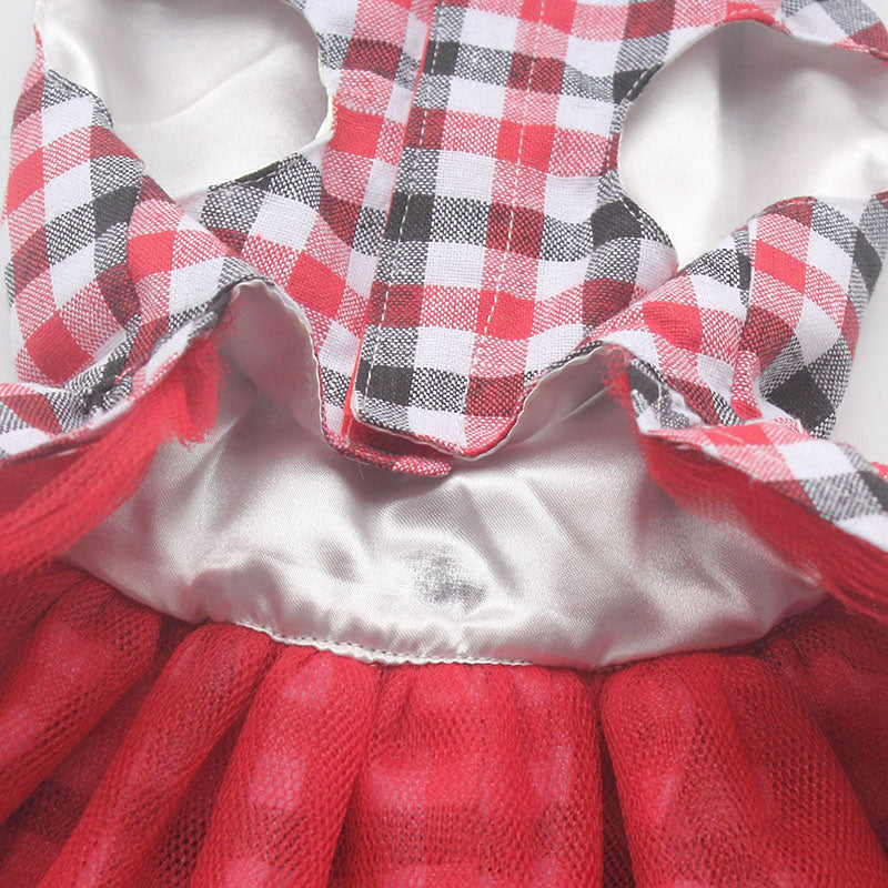 Fashion Plaid Dog Dresses