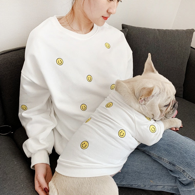 Smiley Face Matching Pet Owner Outfit