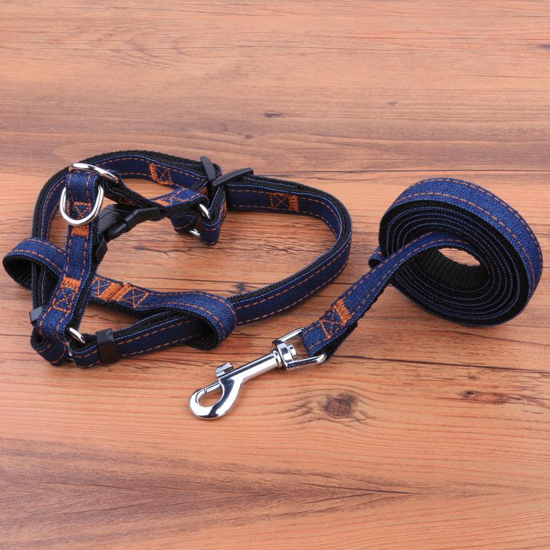 Denim Leash and Harness