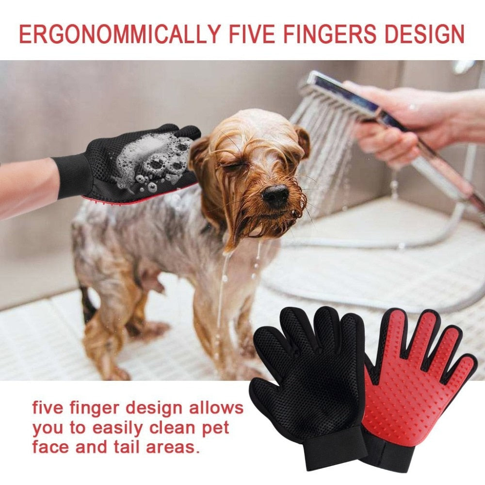 Pet De-shedding Massage Grooming Glove