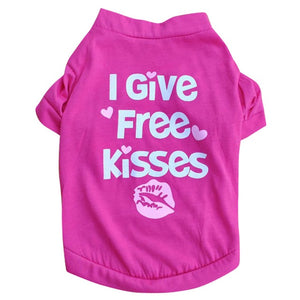 Open image in slideshow, Free kisses pet t-shirt