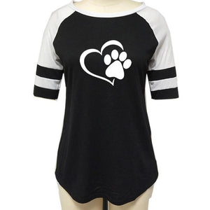 Open image in slideshow, Dog Paw Print Top Shirt