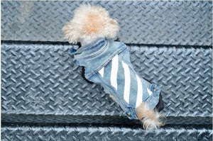 Open image in slideshow, Pet denim jacket