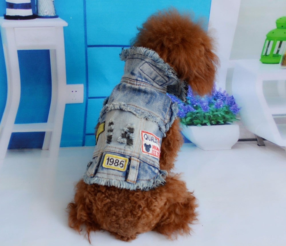 Pet Denim Vest