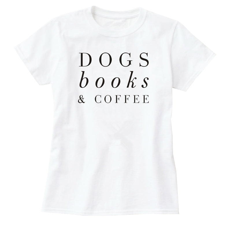 Dogs Books & Coffee T-Shirt