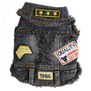 Open image in slideshow, Pet Denim Vest