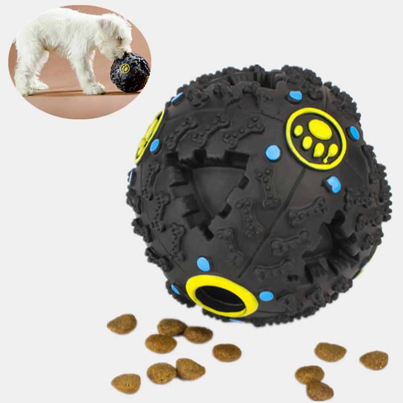 Dog squeaky snack ball