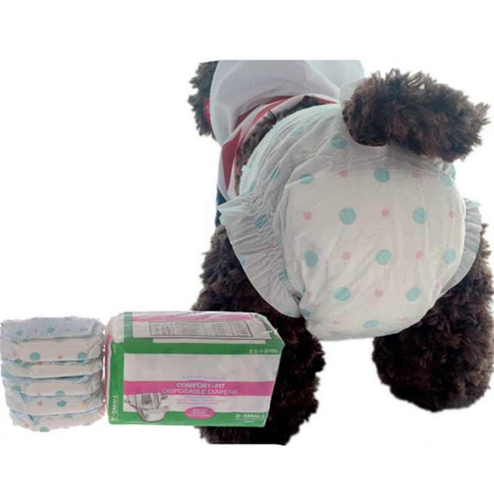 10Pcs Disposable Pet Sanitary Diaper