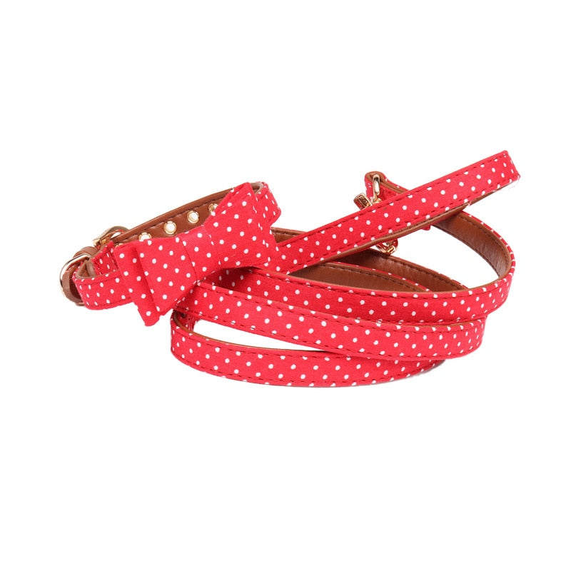 Bandana or bow tie leash and collars