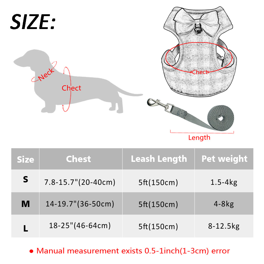 Small Dog Harness and Leash Set