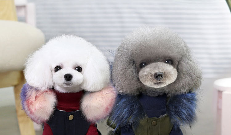 Winter Luxury Faux Fur Dog Parka