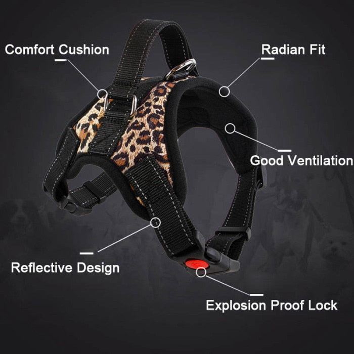 New dog adjustable harness