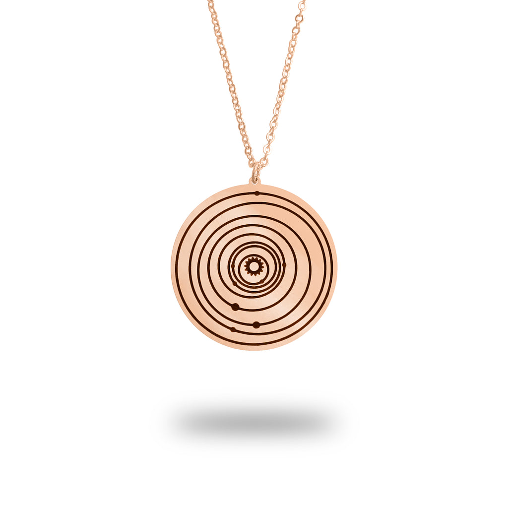 Custom Solar System Necklace in Rose Gold Filled