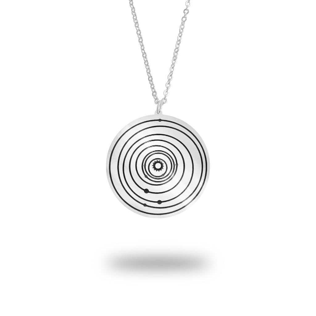 Custom Solar System Necklace in Sterling Silver