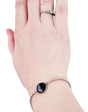 Glowing Moon Phase Chain Bracelet