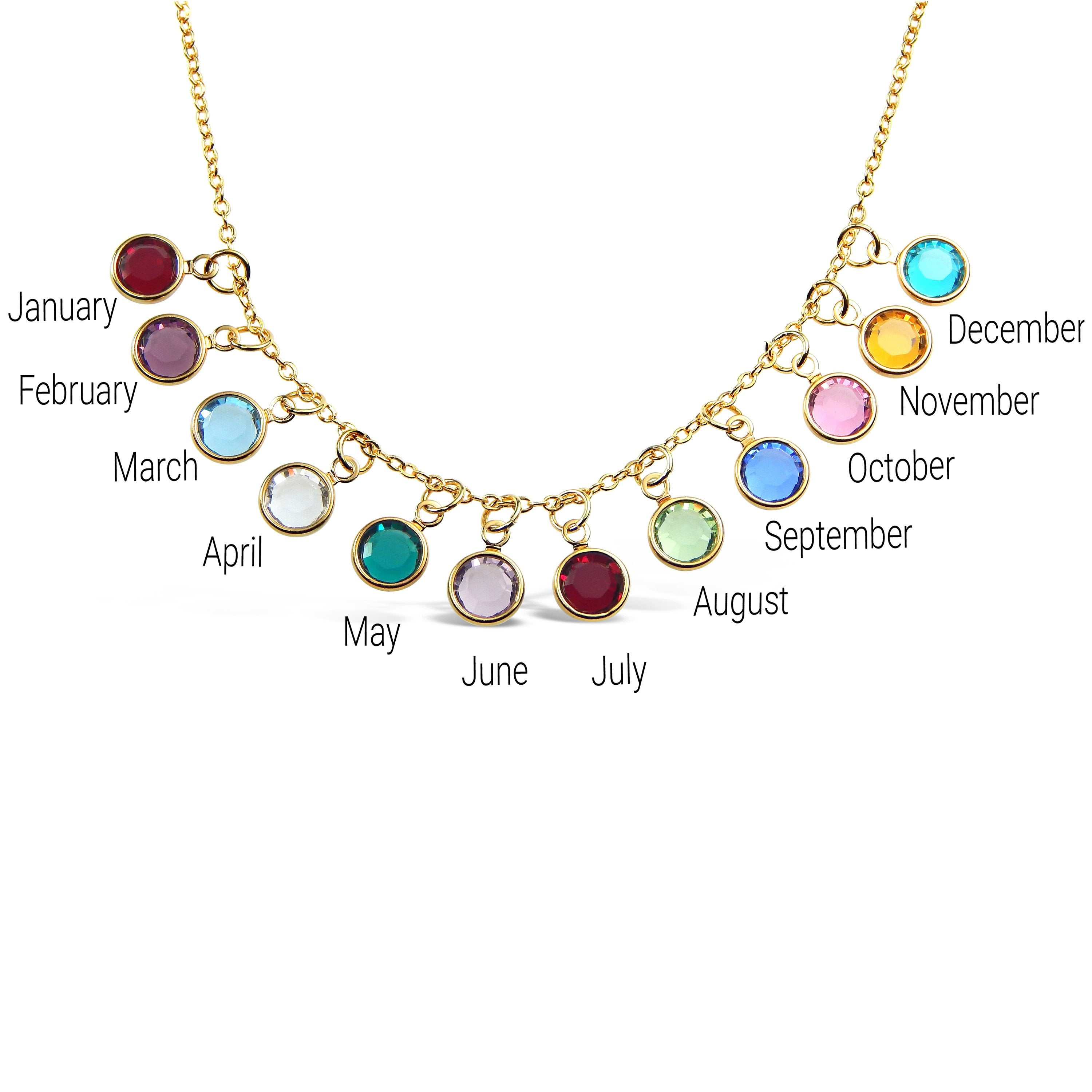 Add a Birthstone Charm Gold