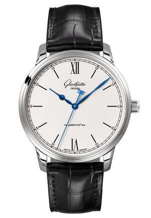 Glashütte Senator Excellence - Stainless Steel on Black Alligator Strap  Glashütte