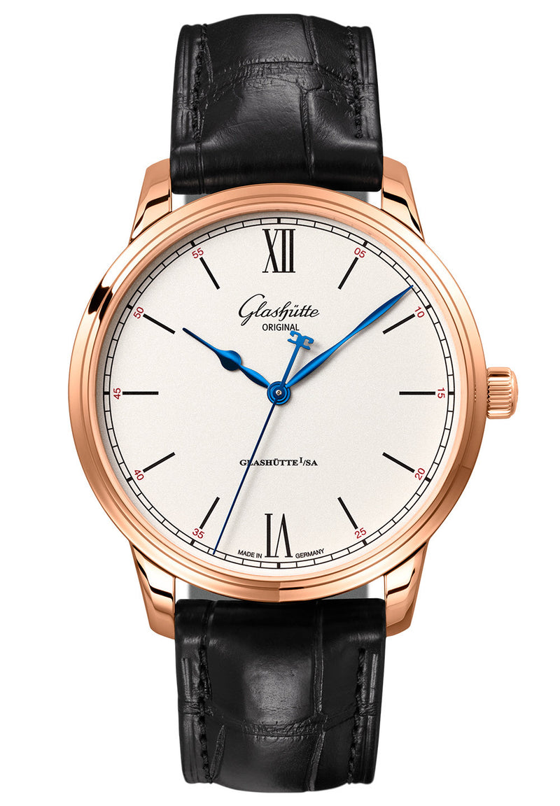 Glashütte Original Senator Excellence - 18 Carat Red Gold on Black Alligator Strap  Glashütte Original