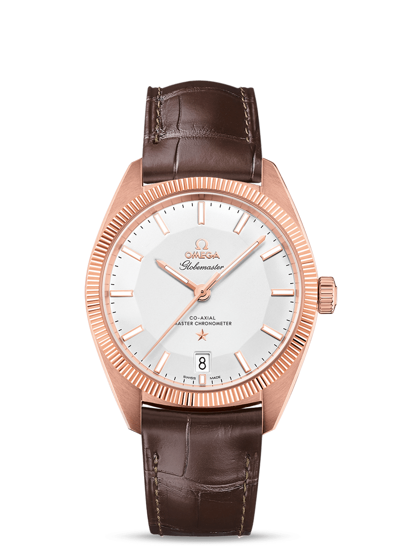 OMEGA CONSTELLATION GLOBEMASTER OMEGA CO‑AXIAL MASTER CHRONOMETER 39 MM - Sedna Gold on Leather Strap  Omega