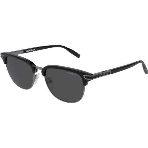 Rectangular Frame Metal Sunglasses  Montblanc
