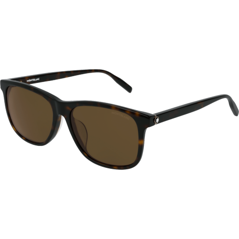 Square Frame Acetate Sunglasses - Asian Fit  Montblanc