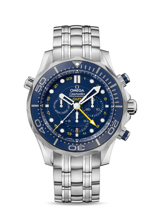 OMEGA SEAMASTER DIVER 300M CO‑AXIAL GMT CHRONOGRAPH 44 MM - Steel on Steel  Omega