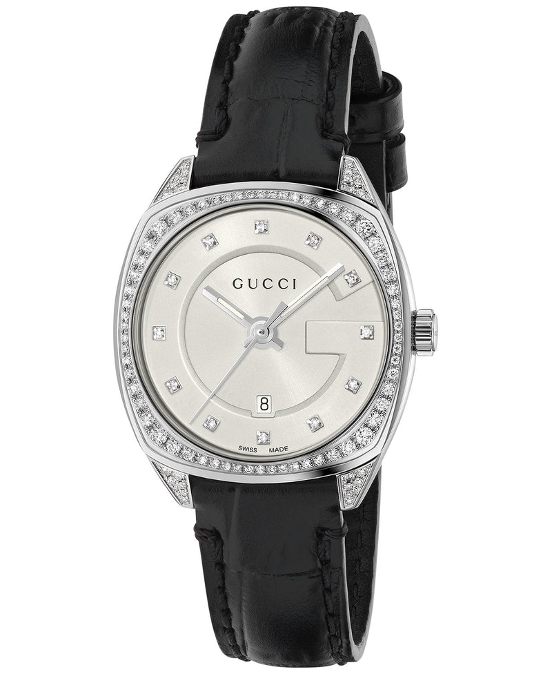 Gucci Women's Swiss GG2570 Diamond (3/4 ct. t.w.) Black Alligator Leather Strap Watch 29mm  Chong Hing Jewelers