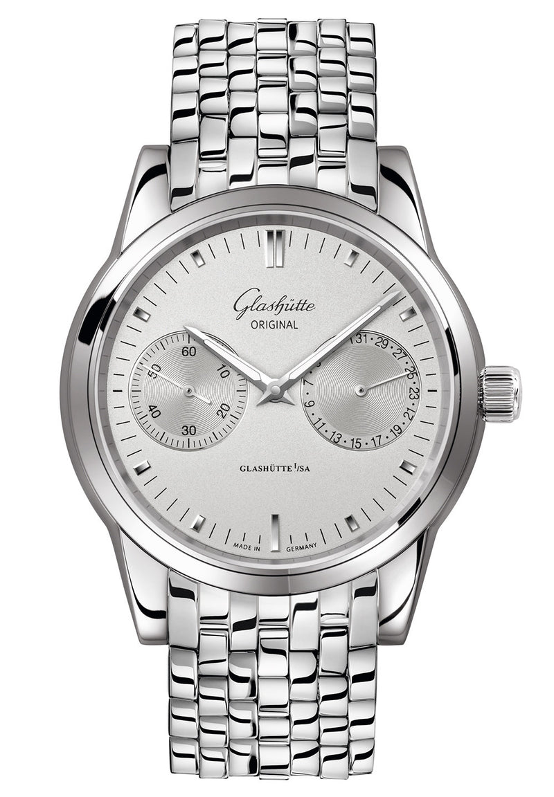 Glashütte Original Senator Hand Date - Stainless Steel on Stainless Steel  Glashütte Original