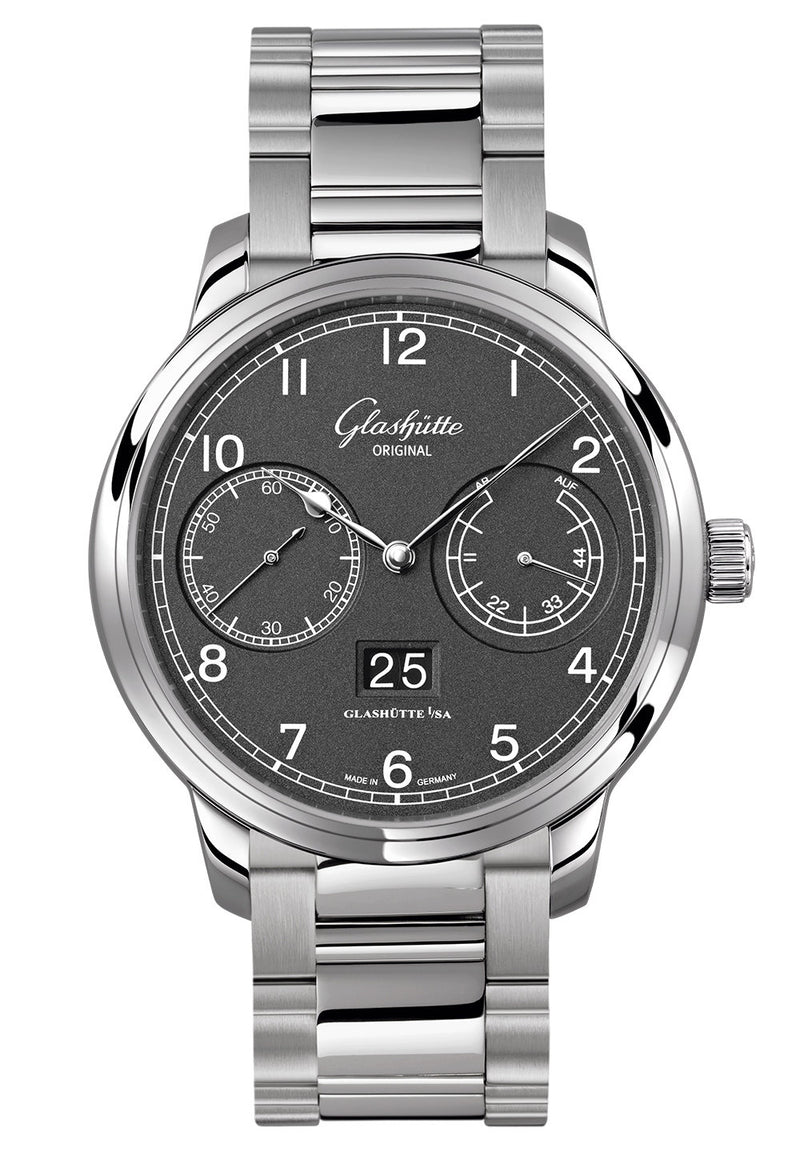 Glashütte Original Senator Observer - Stainless Steel on Stainless Steel  Glashütte Original