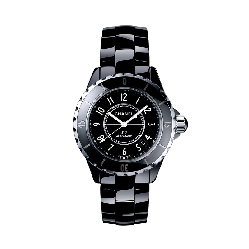 J12 Black Ceramic Automatic Midsize Unisex Watch  Chanel