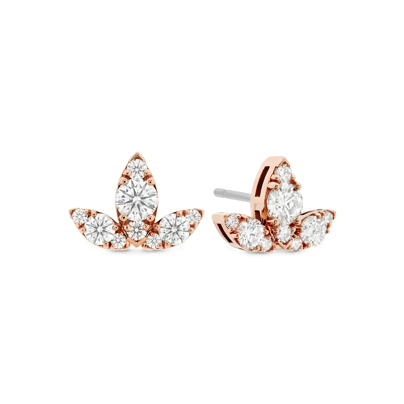 Hearts on Fire Aerial Triple Diamond Stud Earrings  Hearts on Fire