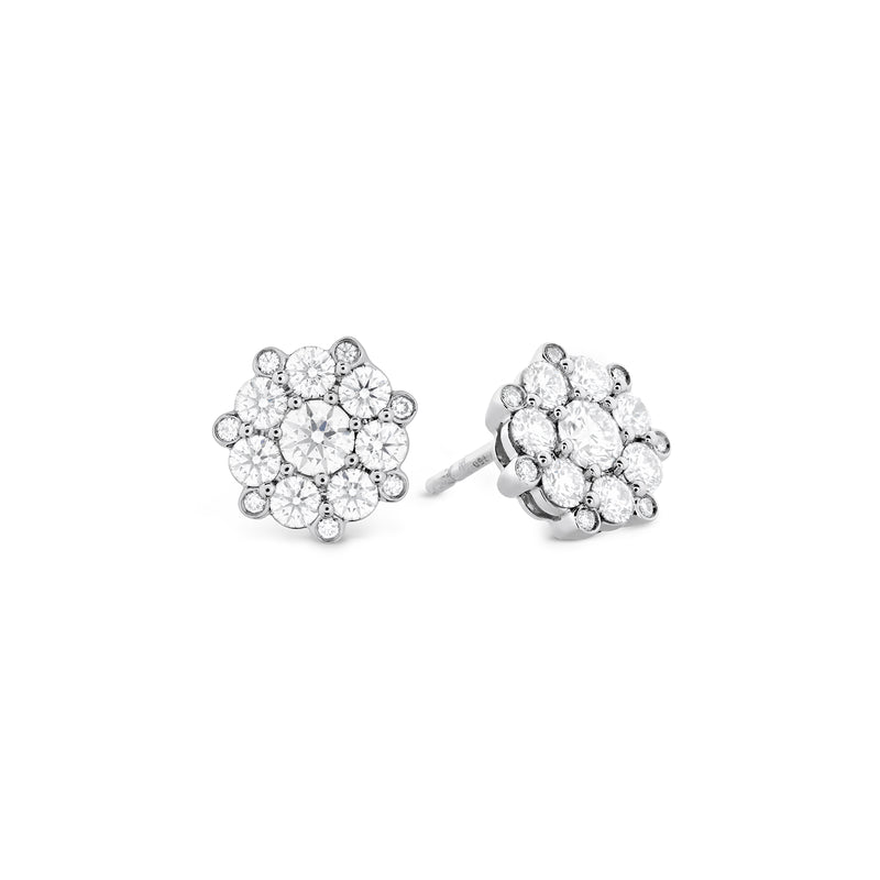 Hearts on Fire Beloved Cluster Diamond Stud Earrings  Hearts on Fire
