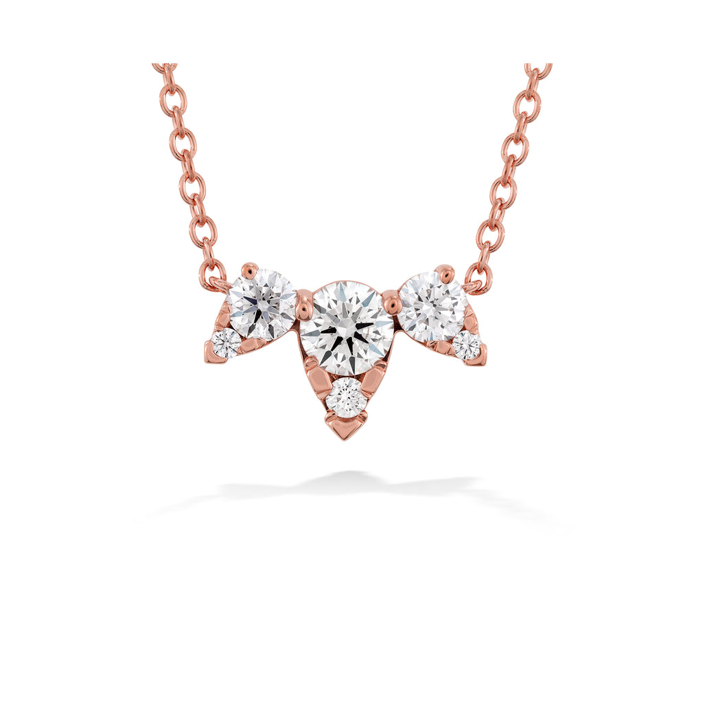 Hearts on Fire Aerial Triple Diamond Necklace  Hearts on Fire
