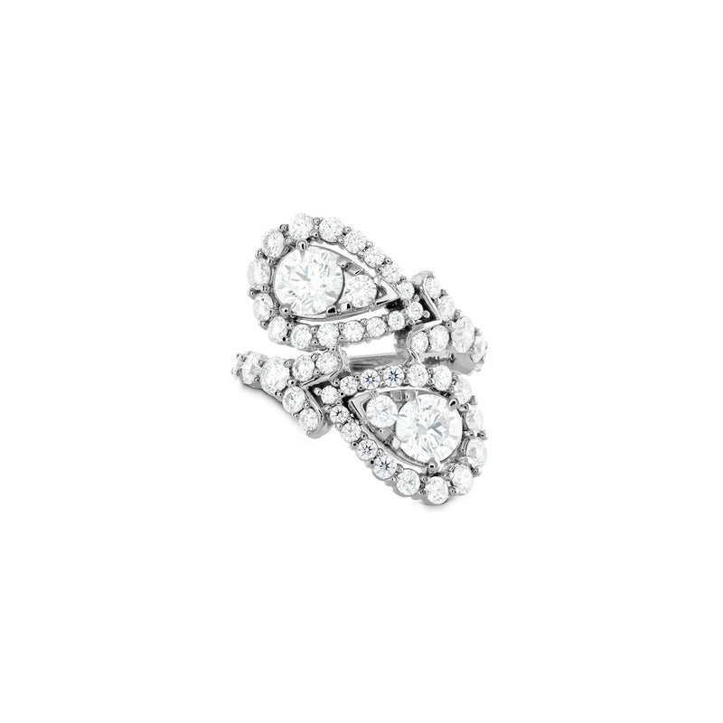 Hearts on Fire Aerial Victorian Bypass Diamond Ring  Hearts on Fire