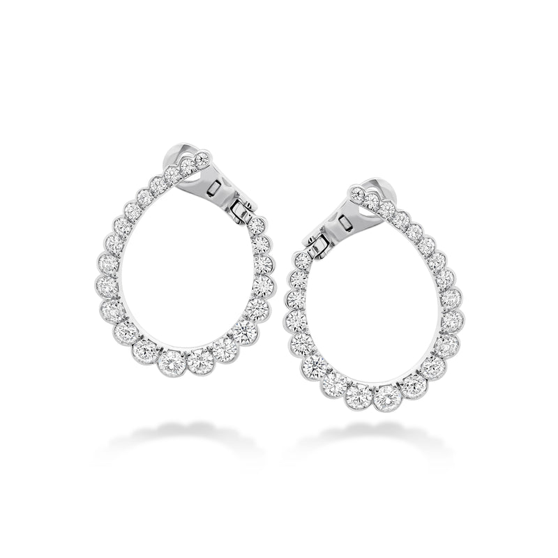Hearts on Fire Aerial Regal Diamond Hoop Earrings  Hearts on Fire