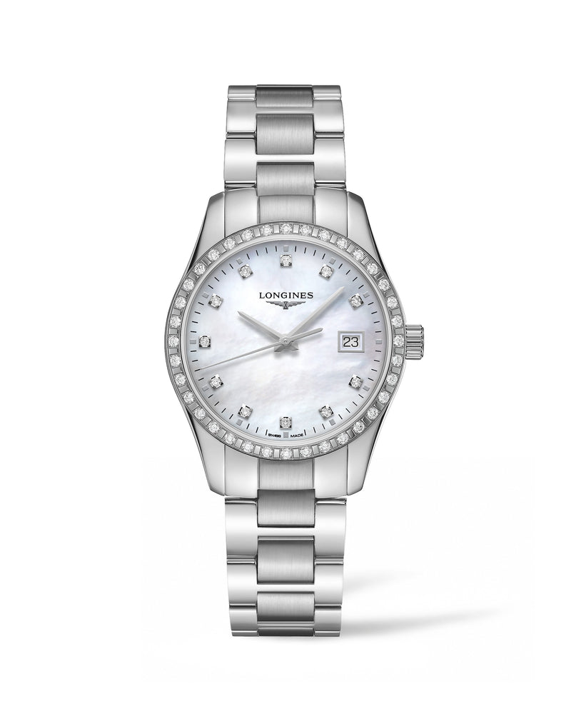 LONGINES Conquest Classic 34mm Mother of Pearl Stainless Steel  Longines