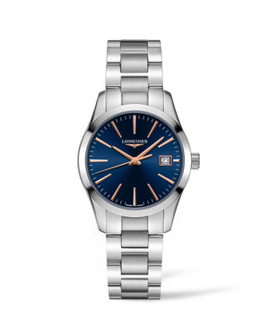 LONGINES Conquest Classic 34mm Blue Dial Stainless Steel  Longines