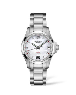 LONGINES Conquest V.H.P. 36mm Mother of Pearl Dial Stainless Steel  Longines