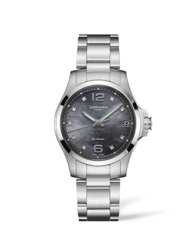 LONGINES Conquest V.H.P. 36mm Black Mother of Pearl Dial Stainless Steel  Longines