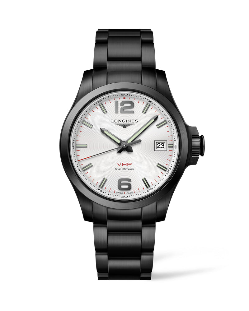 LONGINES The Longines Conquest V.H.P. 41MM Silver Dial PVD  Longines