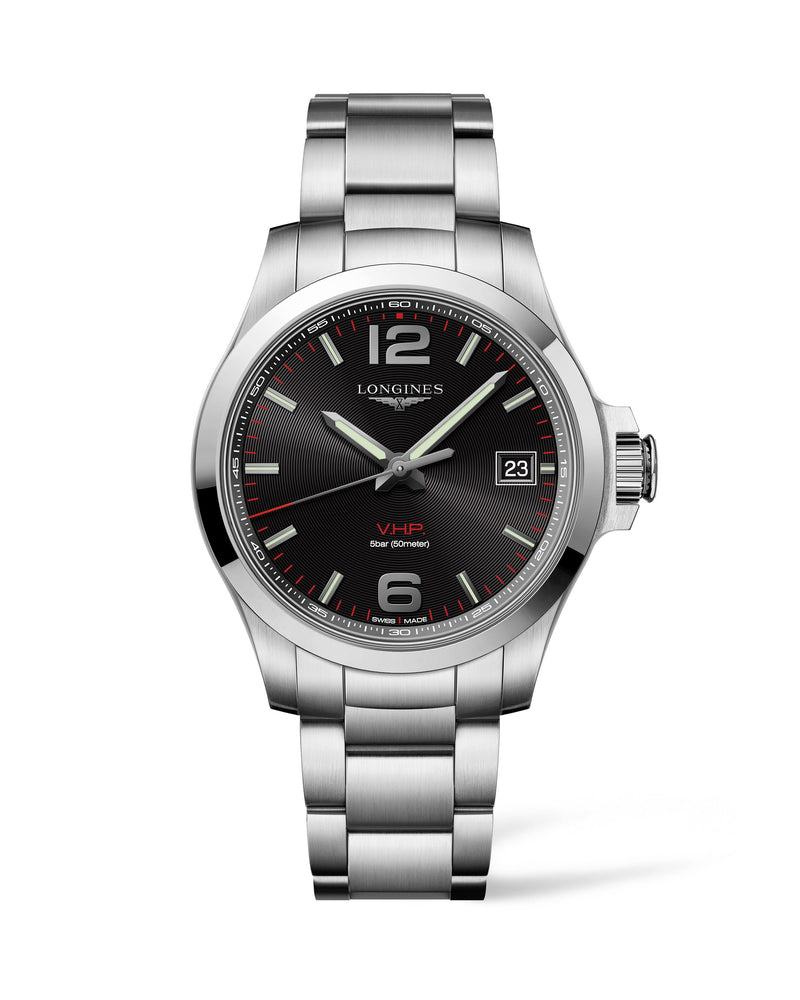LONGINES The Longines Conquest V.H.P. 41MM Black Dial  Longines