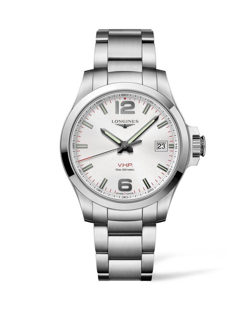 LONGINES The Longines Conquest V.H.P. 41MM Silver Dial  Longines