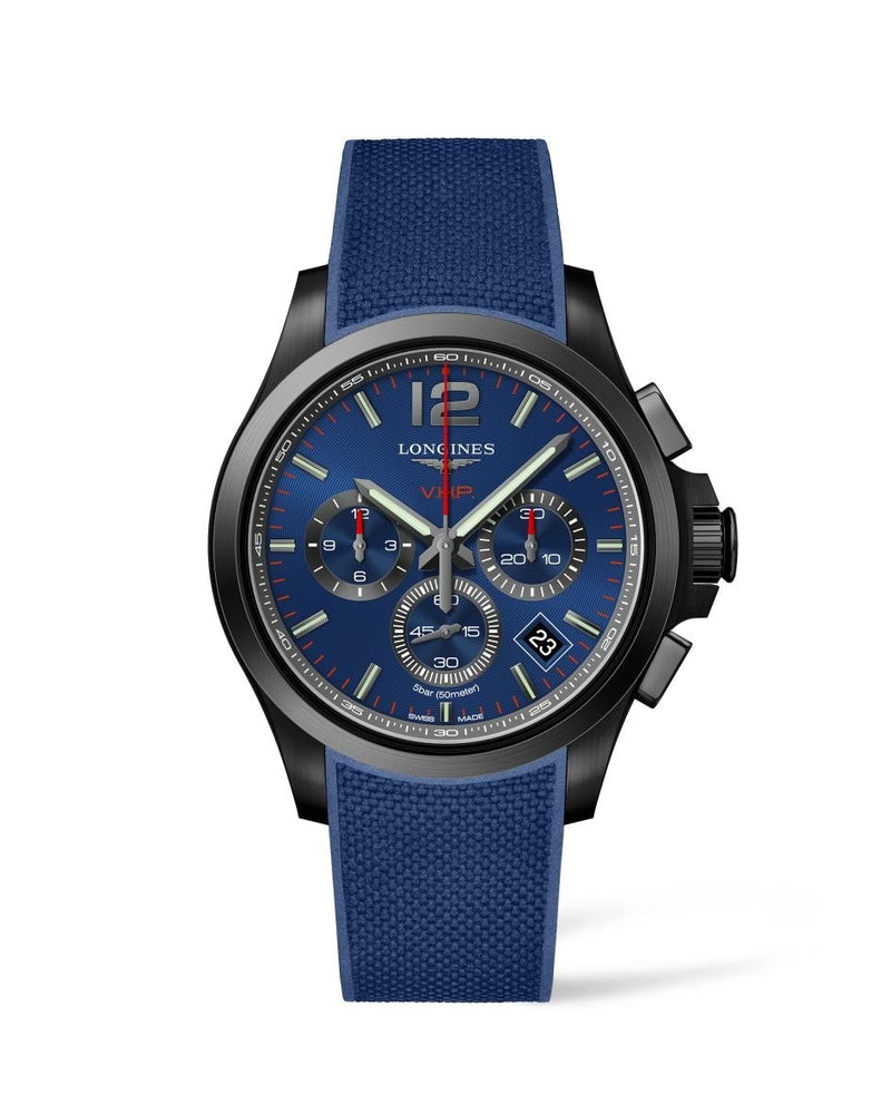 LONGINES Conquest V.H.P. 42mm Blue Dial PVD  Longines