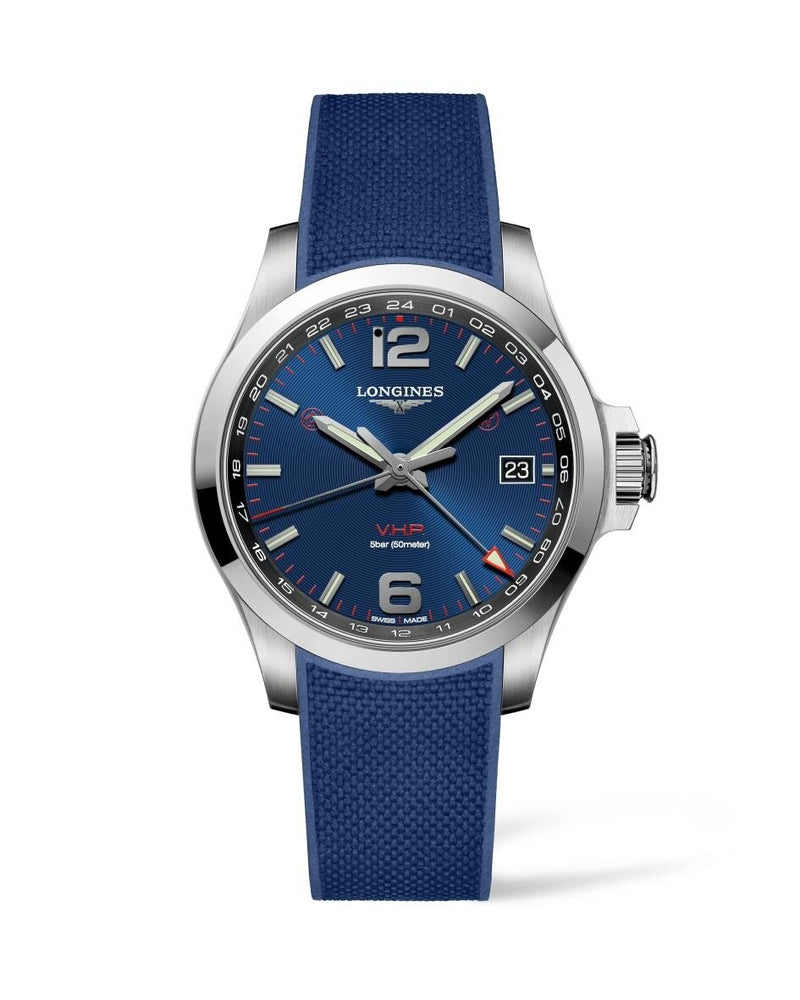 LONGINES Conquest V.H.P. GMT 41mm Blue Dial Stainless Steel  Longines