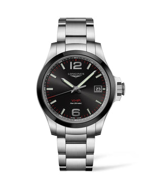LONGINES Conquest V.H.P. 41mm Black Dial Stainless Steel  Longines