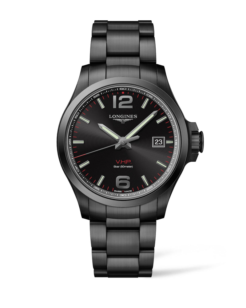 LONGINES The Longines Conquest V.H.P. 43MM Black Dial PVD  Longines